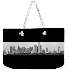 Weekender Tote Bag featuring the photograph Dallas In Black And White by Jonathan Davison