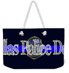 Dallas Police Dept. Blue Line Mug W Badge Image Weekender Tote Bag