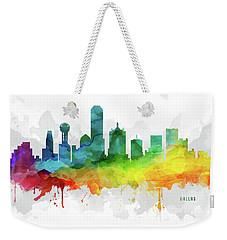 Dallas Skyline Mmr-ustxda05 Weekender Tote Bag by Aged Pixel