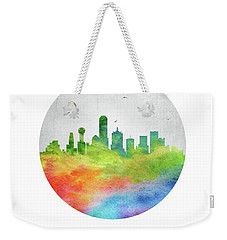 Dallas Skyline Ustxda20 Weekender Tote Bag by Aged Pixel