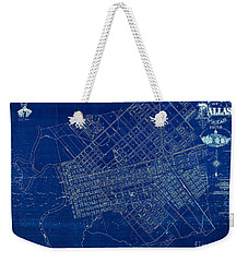 Dallas Texas Official 1875 City Map Blueprint Butterfield And Rundlett Weekender Tote Bag