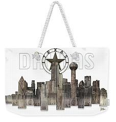Dallas Texas Skyline Weekender Tote Bag