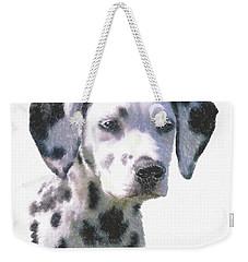 Dalmatian Puppy Weekender Tote Bag by Kathie Miller