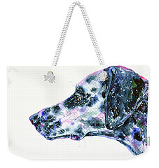 Weekender Tote Bag featuring the painting Dalmatian by Zaira Dzhaubaeva