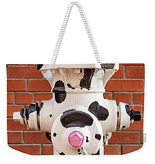 Weekender Tote Bag featuring the photograph Dalmation Hydrant by James Eddy