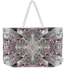 Weekender Tote Bag featuring the digital art Damask by Lea Wiggins