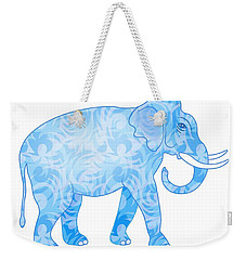 Damask Pattern Elephant Weekender Tote Bag by Antique Images