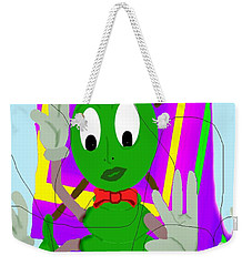 Weekender Tote Bag featuring the painting Damn Cleo by Tbone Oliver