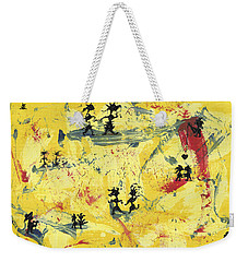 Weekender Tote Bag featuring the painting Dance Art Creation 1d9 by Manuel Sueess