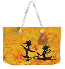 Weekender Tote Bag featuring the painting Dance Art Dancing Couple 238 by Manuel Sueess