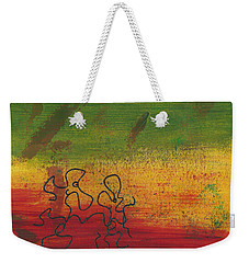 Weekender Tote Bag featuring the painting Dance Art Dancing Couple 28b by Manuel Sueess