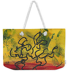 Weekender Tote Bag featuring the painting Dance Art Dancing Couple 57 by Manuel Sueess