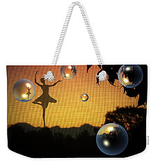 Weekender Tote Bag featuring the photograph Dance Of A New Day by Joyce Dickens