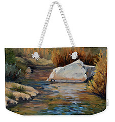 Dance Of Light On Bishop Creek Weekender Tote Bag