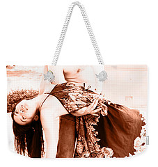 Weekender Tote Bag featuring the painting Dance Of... by Tbone Oliver