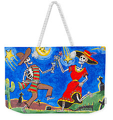 Weekender Tote Bag featuring the painting Dance Of The Dead by Dale Loos Jr