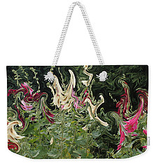 Dance Of The Hollyhock Fairies Weekender Tote Bag by David and Lynn Keller