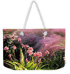 Weekender Tote Bag featuring the photograph Dance Of The Orchids by Rosalie Scanlon