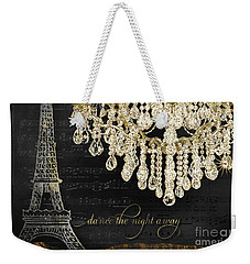 Weekender Tote Bag featuring the mixed media Dance The Night Away 1 by Audrey Jeanne Roberts