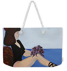 Weekender Tote Bag featuring the painting Dancer With Calla Lillies by Jolanta Anna Karolska
