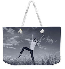 Dancing At The Beach Weekender Tote Bag by Amyn Nasser