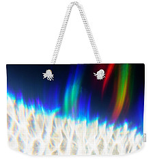 Weekender Tote Bag featuring the photograph Dancing At The North Pole by Greg Collins