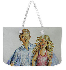 Dancing Barefoot In The Rain Weekender Tote Bag