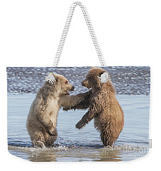 Dancing Bears Weekender Tote Bag by Chris Scroggins