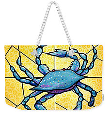Dancing Blue Crab 4 Weekender Tote Bag by Jim Harris