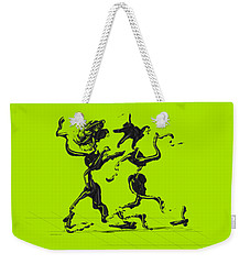 Weekender Tote Bag featuring the digital art Dancing Couple 1 by Manuel Sueess
