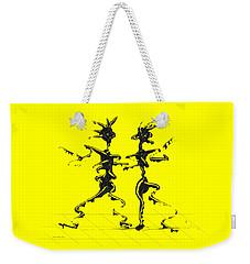 Weekender Tote Bag featuring the digital art Dancing Couple 2 by Manuel Sueess