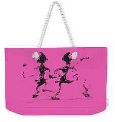Weekender Tote Bag featuring the digital art Dancing Couple 3 by Manuel Sueess