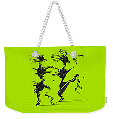 Weekender Tote Bag featuring the digital art Dancing Couple 4 by Manuel Sueess