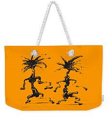 Weekender Tote Bag featuring the digital art Dancing Couple 5 by Manuel Sueess