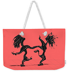 Weekender Tote Bag featuring the painting Dancing Couple 8 by Manuel Sueess