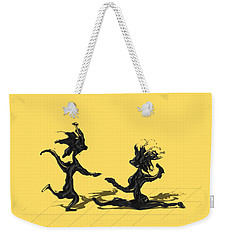 Weekender Tote Bag featuring the painting Dancing Couple 9 by Manuel Sueess