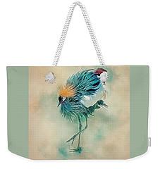 Dancing Crane Weekender Tote Bag