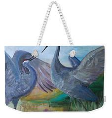 Dancing Cranes Weekender Tote Bag