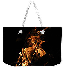 Weekender Tote Bag featuring the photograph Dancing Flames by Beth Vincent