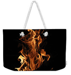 Weekender Tote Bag featuring the photograph Dancing Flames II by Beth Vincent