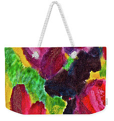 Weekender Tote Bag featuring the painting Dancing Flowers by Joan Reese