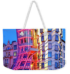 Weekender Tote Bag featuring the photograph Dancing House by Fabrizio Troiani