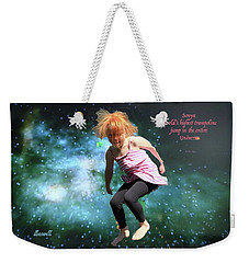 Dancing In Space Weekender Tote Bag