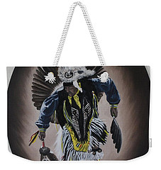 Weekender Tote Bag featuring the painting Dancing In The Spirit by Michael  TMAD Finney