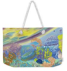 Dancing Jellies Weekender Tote Bag by Meryl Goudey