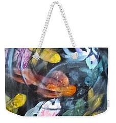 Dancing Koi Weekender Tote Bag by Barbara O'Toole