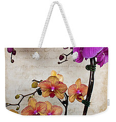 Dancing Orchids Weekender Tote Bag