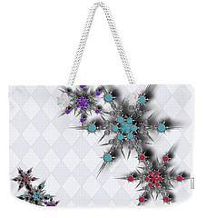Dancing Snowflakes Weekender Tote Bag