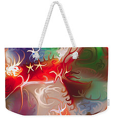 Weekender Tote Bag featuring the painting Dancing Stars by Omaste Witkowski