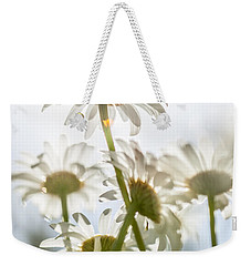 Weekender Tote Bag featuring the photograph Dancing With Daisies by Aaron Aldrich